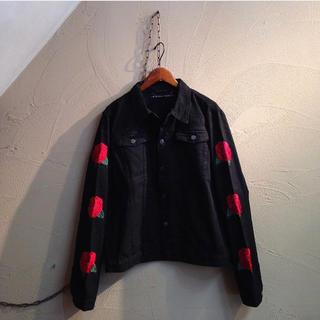 ラフシモンズ(RAF SIMONS)の刺繍ジャケット(Gジャン/デニムジャケット)