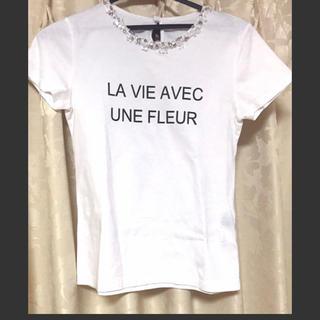 ジャスグリッティー(JUSGLITTY)のバックリボンロゴTシャツ(Tシャツ(半袖/袖なし))