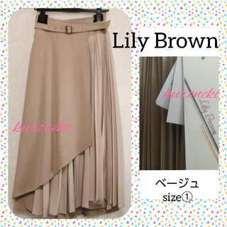 Lily Brown - 🌟新品🌟リリーブラウン🎀アシンメトリープリーツスカート
