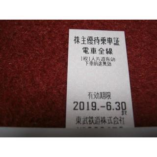東武鉄道 株主優待 乗車券(鉄道乗車券)