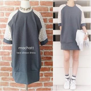 machatt*マチャット【美品】レーススリーブポンチワンピース