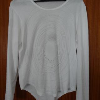 ラッドミュージシャン(LAD MUSICIAN)のラッドミュージシャン 長袖 ぐるぐる プリント Tシャツ 白 42(Tシャツ/カットソー(七分/長袖))