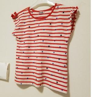 シマムラ(しまむら)の女の子 150 ボーダー tシャツ(Tシャツ/カットソー)
