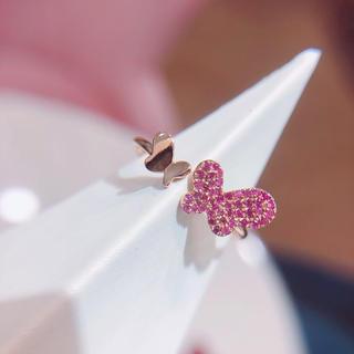 新品 ピンクサファイア リング  K18(リング(指輪))
