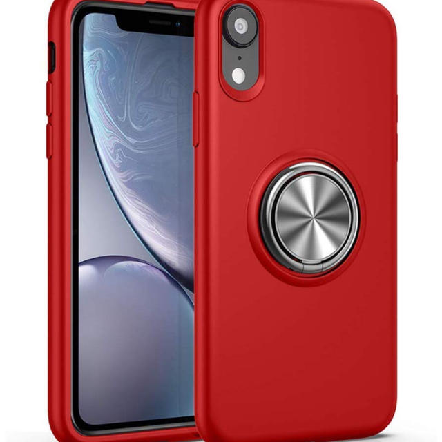 iPhone XR ケース リング tpu リング付き シリコン耐衝撃 指紋防止の通販 by dodo's shop|ラクマ