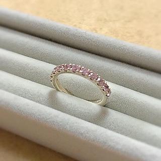 ヨンドシー(4℃)の4℃ シルバー リング ピンク キュービックジルコニア ピンキーリング(リング(指輪))