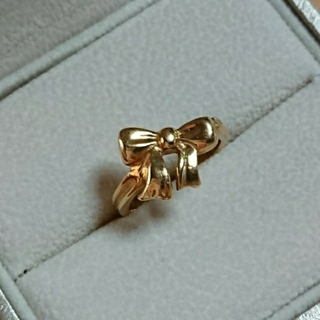 ティファニー(Tiffany & Co.)の☆ティファニー k18 リボンリング 4.2g☆(リング(指輪))