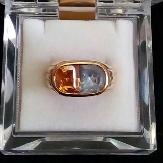 イエロートパーズ ブルートパーズ リング 指輪 13号(リング(指輪))