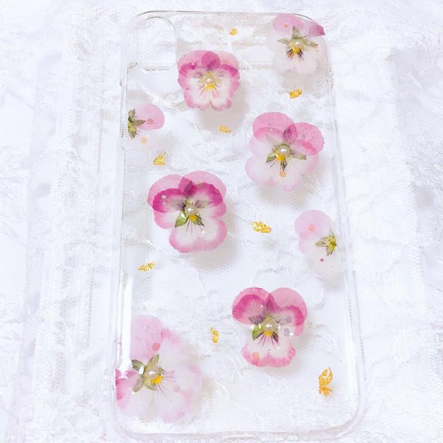 ビオラ 押し花 iPhone XRの通販 by あまいたまごやき's shop|ラクマ