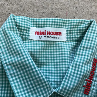 mikihouse - ミキハウス MIKIHOUSE チェックシャツ 90