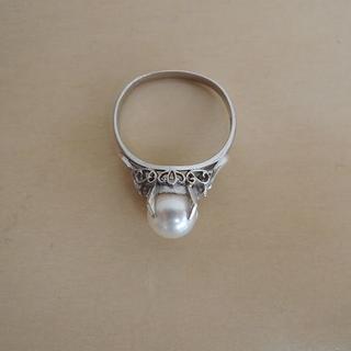 パール リング 真珠 指輪 プラチナ 900(リング(指輪))