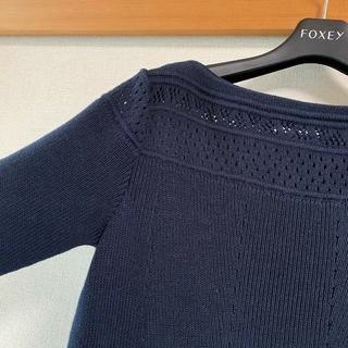 フォクシー(FOXEY)の美品🌼FOXEY NEW YORKcollection ニットワンピース(ニット/セーター)