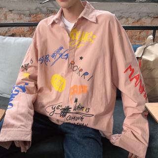 デザインシャツ オルチャン ビックシルエット 韓国