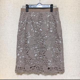 JUSGLITTY - JUSGLITTY レースタイトスカート
