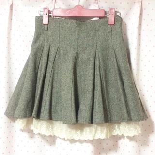 シークレットマジック(Secret Magic)のシークレットマジック 裾レース スカート ブラウン/茶色(ミニスカート)