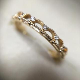 アガット(agete)のアガット  K14 ダイヤモンド レース風 リング 10号(リング(指輪))