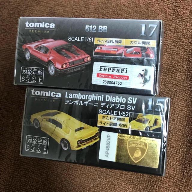 Ferrari(フェラーリ)のトミカ プレミアム 新品 フェラーリ 512BB 15 ランボルギーニ ディア エンタメ/ホビーのおもちゃ/ぬいぐるみ(ミニカー)の商品写真