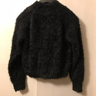 ジーユー(GU)のフェザー ハイネック セーター 黒 *(ニット/セーター)