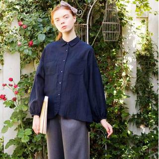 フェリシモ(FELISSIMO)のシロップ 薄手素材のたっぷりシャツ(シャツ/ブラウス(長袖/七分))