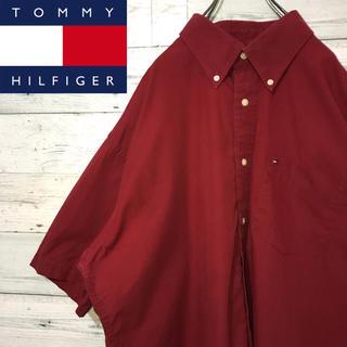 TOMMY HILFIGER - 【レア】トミーヒルフィガー☆刺繍ワンポイントロゴ ビッグサイズ 半袖 BDシャツ