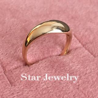 スタージュエリー(STAR JEWELRY)のスタージュエリー k14 ボリュームリング イエローゴールド yg(リング(指輪))