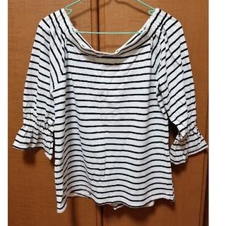 ジーユー(GU)のボーダー7分袖Tシャツ(Tシャツ(長袖/七分))