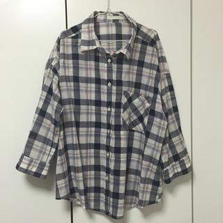 ジーユー(GU)のGU ジーユー☆チェックシャツ Mサイズ(シャツ/ブラウス(長袖/七分))