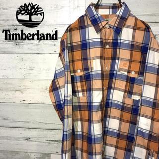 Timberland - 【レア】ティンバーランド☆刺繍ワンポイントロゴ マルチカラー チェックシャツ