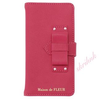 Maison de FLEUR - 限定♡メゾンドフルール♡ベルトリボンiPhone7/iPhone8ケース♡ピンク