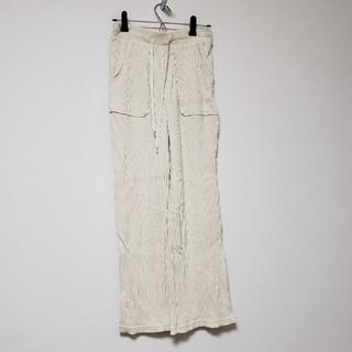 ジーユー(GU)のGU ジーユー ワイドパンツ リブワイドパンツ ズボン(カジュアルパンツ)