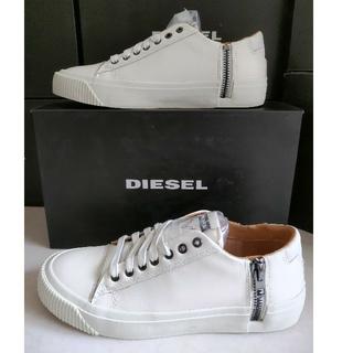 ディーゼル(DIESEL)の新品未使用品 DIESEL ディーゼル レザースニーカー 25.5cm 箱付き(スニーカー)