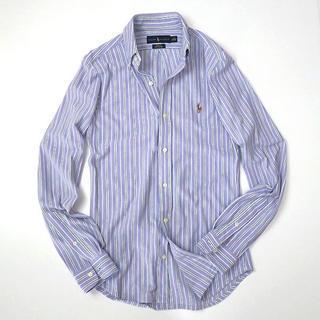 ラルフローレン(Ralph Lauren)のラルフローレン ビズポロ素材◎ストライプ ボタンダウンシャツ カラーポニー(シャツ)