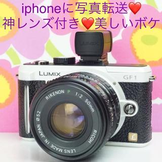 Panasonic - iPhoneに写真転送OK❤️単焦点 神レンズ&EVFセット Lumix GF1