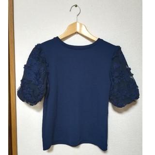 ジーユー(GU)のGU 刺繍袖トップス カットソー(カットソー(長袖/七分))