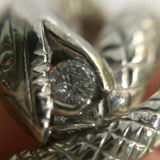 プラチナ 蛇  スネークリング(リング(指輪))