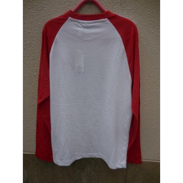 adidas(アディダス)の新品 adidas アディダス 長袖 Tシャツ ロンT 白×赤 メンズのトップス(Tシャツ/カットソー(七分/長袖))の商品写真