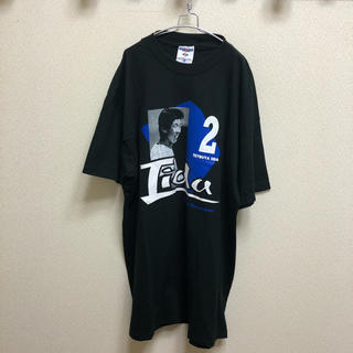 トウキョウヤクルトスワローズ(東京ヤクルトスワローズ)の希少 90s USA製ボディー ヤクルトスワローズ 飯田哲也 2 TシャツL(応援グッズ)