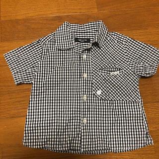 コムサイズム(COMME CA ISM)のコムサイズム チェックシャツ 100(ブラウス)