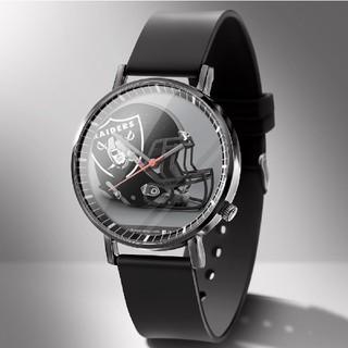 新品 NFL 腕時計 オークランド レイダーズ 電池交換可能 メンズ 38mm
