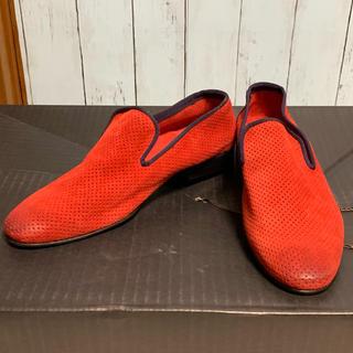 【美品】around the shoes 40 赤 靴 シューズ オシャレ(ドレス/ビジネス)