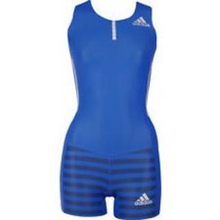 アディダス(adidas)の女子陸上ユニフォーム ブルー スーツタイプ(陸上競技)