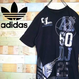 アディダス(adidas)の【レア】アディダスオリジナルス×デフジャム☆コラボTシャツ ビッグロゴプリント(Tシャツ/カットソー(半袖/袖なし))