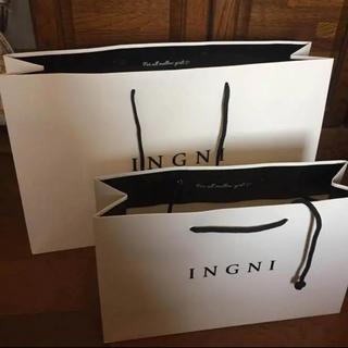 イング(INGNI)のINGNIショップ袋 2枚セット(ショップ袋)
