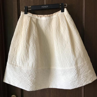 フォクシー(FOXEY)のfoxey boutique バニラスティッチ スカート 40☆美品(ひざ丈スカート)