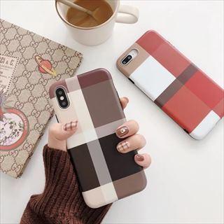 おしゃれ チェック ブラウン iPhoneケースCA-174180