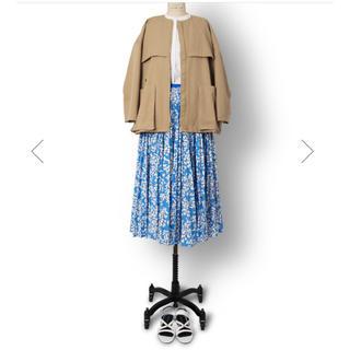 ドゥロワー(Drawer)の新品未使用!2019 drawer フラワープリーツスカート36(ロングスカート)