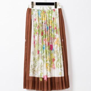 GRACE CONTINENTAL - グレースコンチネンタル スカート スカーフフラワープリントスカート