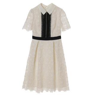 トランテアンソンドゥモード(31 Sons de mode)の31 トランテアン 10周年記念 衿付きケミカルワンピース (ひざ丈ワンピース)