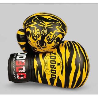 ZOOBOO 黄色 本格 ボクシング グローブ 10オンス キック 総合 格闘技(ボクシング)