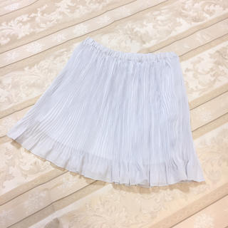 ジーユー(GU)の[新品] ジーユーシフォンプリーツスカート グレー(ひざ丈スカート)
